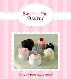 DIY Felt Tea Party Treats...Dessert Set...Felt Food Pattern PDF. $6.99, via Etsy.
