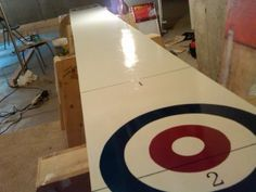How to build a shuffleboard table for beginners. My step-by-step DIY process for building a shuffleboard table in my basement. Game Room Basement, Man Cave Basement, Basement Ideas, Man Cave Diy, Man Cave Home Bar, Skittles Game, Classy Man Cave, Shuffleboard Table, Bar Design