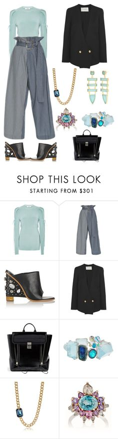 """Boss"" by karen-galves on Polyvore featuring Adeam, Rejina Pyo, TIBI, Lanvin, 3.1 Phillip Lim, Sharon Khazzam, Rebecca and Reece Blaire"