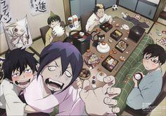 Ao no Exorcist (Blue Exorcist) - Zerochan Anime Image Board Blue Exorcist Mephisto, Kuro Ao No Exorcist, Blue Exorcist Funny, Blue Exorcist Anime, Blue Exorcist Cosplay, Manga Anime, Tv Anime, Anime Plus, Rin Okumura