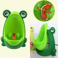 Frog Boy Kid Baby Child Toddler Potty Urinal Pee Toilet Training Trainer Urine #