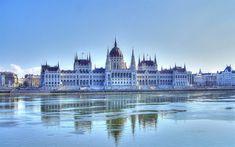 Télécharger fonds d'écran Hongrois Bâtiment Du Parlement, Du Danube, De Style Néo-Gothique, Budapest, Hongrie