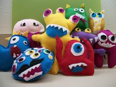Felt creatures! We can teach you this at the library!