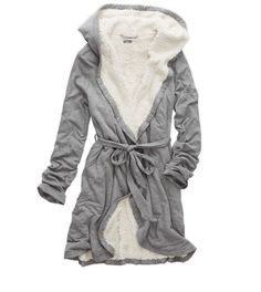 Dark Heather Grey Aerie Cozy Robe Gift - The perfect gift for the girl who loves to be pampered! #Aerie