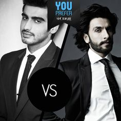 One is an ishaqzaada and the other, a lootera of hearts.  Who do you think sports the rugged look better, #ArjunKapoor or #RanveerSingh?