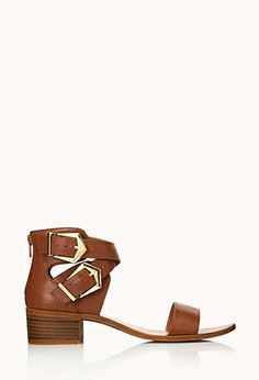 Must-Have Buckled Sandals | FOREVER21 - 2000090689 Sandels with a small heel #F21Crush