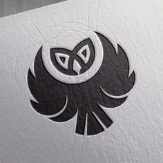 owl head branding logo design