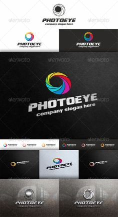 Photo Eye - Diaphragm Logo - Aperture Logo Template – that can be used by professional photographers, photography studios or companies related to photography. Logo is a minimalist, simple and straightforward.  Elegant and modern Logo Template which is 100% customizable and resizable. Made in – Ai and EPS. ( in different colors, 2 styles and in horizontal and vertical versions. )