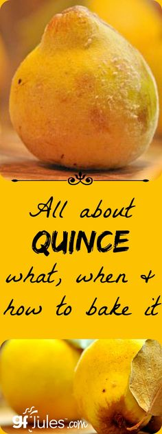 All about Quince - gluten free recipe ideas - gfJules Jelly Recipes, Fruit Recipes, Dessert Recipes, Healthy Recipes, Dinner Recipes, Cooking Recipes, Quincy Fruit, Quince Paste Recipe, Quince Jam Recipe