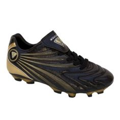 SALE - Kids Vizari Milan Jr Soccer Cleats Black Leather - Was $34.99 - SAVE $5.00. BUY Now - ONLY $29.99