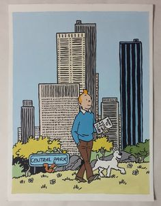 Tintin and Milou Snowy Painting Tintin Comic Painting by Cansupo