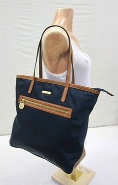 Navy Blue Nylon Shoulder Bag 9