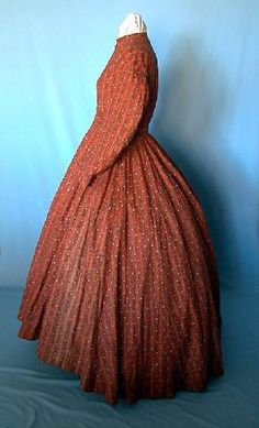 Calico Work Dress, 1860s   Side