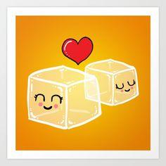 Ice cubes in love Art Print by Adrian Serghie Framed Prints, Art Prints, Ice Cubes, Love Art, Goodies, Art Impressions, Sweet Like Candy, Good Stocking Stuffers, Fine Art Prints