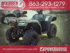 New 2017 Honda FourTrax Foreman Rubicon 4X4 EPS ATVs For Sale in Florida. 2017 HONDA FourTrax Foreman Rubicon 4X4 EPS, McKibben Powersport Honda is a family owned and operated dealership in Winter Haven, Florida. We are located at 3699 US HWY 17 N Winter Haven Fl, 33881 between US HWY 92 and Havendale Blvd. We proudly serve Polk county and the surrounding areas, to include Lakeland, Auburndale, Bartow, Kissimmee, Lake Alfred, and Sebring. We are a Honda Powerhouse Dealer and we represent the…