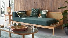 Rough Wood, Wood Sofa, Daybed, Outdoor Furniture, Outdoor Decor, Diva, New Homes, Interior Design, Tables