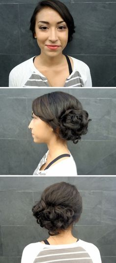 Prom updo and makeup I did