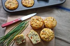 Recipe: Cottage Cheese Muffins with Roasted Red Peppers and Feta — But First, Breakfast!