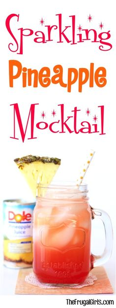 Sparkling Pineapple Moctail Recipe - at TheFrugalGirls.com