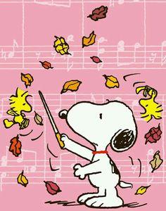 Imagen de snoopy, music, and autumn