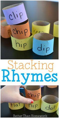 Stacking Rhyming Words - Creative Family Fun