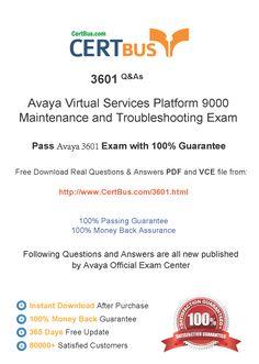 CertBus 3601 Free PDF&VCE Exam Practice Test Dumps Download - Real Q&As | Real Pass | 100% Guarantee! 3601 Dumps, 3601 Exam Questions, 3601 New Questions, 3601 PDF, 3601 VCE, 3601 braindumps, 3601 exam dumps, 3601 exam question, 3601 pdf dumps, 3601 Practice Test, 3601 study guide, 3601 vce dumps  http://www.certbus.com/3601.html