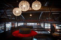 Second floor layout at MatchBOX Studio in Lafayette, IN. Lafayette Indiana, Floor Layout, Coworking Space, Second Floor, Ceiling Lights, Flooring, Studio, Places, Design