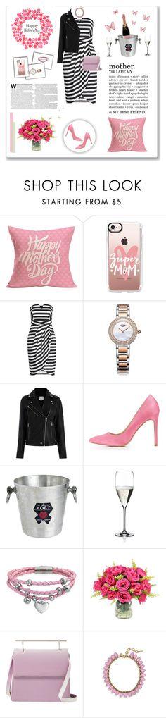 """""""Happy Mother's Day!"""" by kikusek ❤ liked on Polyvore featuring Casetify, Rotary, Charlotte Russe, MoÃ«t & Chandon, Riedel, Bling Jewelry, M2Malletier and Loren Hope"""
