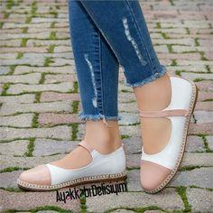 Kofsa Pudra Beyaz Babet Ayakkabı #flat #shoes