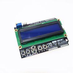 1 개 LCD 키패드 쉴드 LCD1602 LCD 1602 모듈 디스플레이 아두 ATMEGA328 ATMEGA2560 라즈베리 파이 UNO 블루 스크린