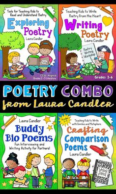 Poetry Combo from Laura Candler - A bundle of 4 resources that make reading and writing poetry both easy and fun! $