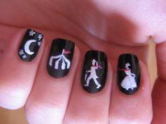 night circus nail art.