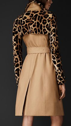 Mink Gabardine Trench Coat | Burberry