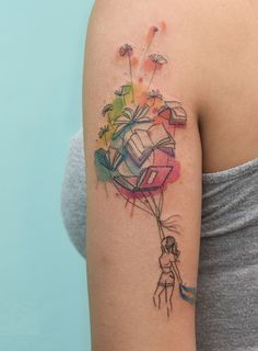 Awe-inspiring Book Tattoos for Literature Lovers - KickAss Things - watercolor book tattoo ©️️ Iris Tattoo Studio Miami You are in the right place about Awe-inspir - Iris Tattoo, Tattoos For Lovers, Tattoos For Women, Tattoos For Guys, Writer Tattoo, Book Tattoo, Reader Tattoo, Hp Tattoo, Bookish Tattoos