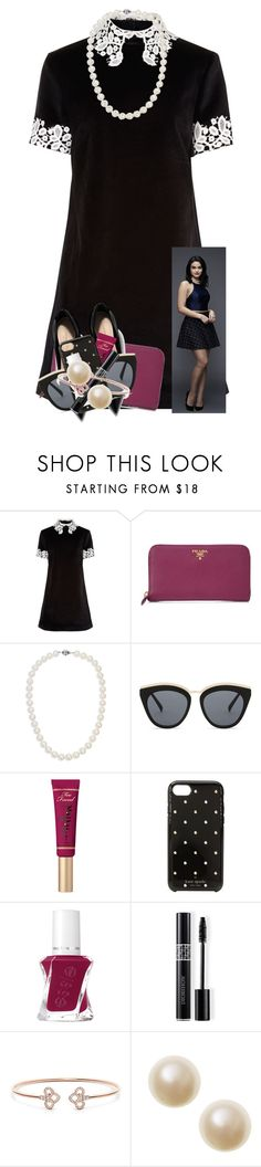 """veronica lodge"" by marthaswilliams ❤ liked on Polyvore featuring macgraw, Prada, Blue Nile, Le Specs, Too Faced Cosmetics, Kate Spade and Christian Dior"