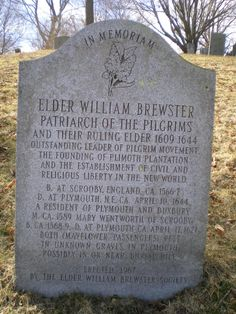 Pilgrim colonist, leader and preacher Elder William Brewster came from Scrooby, in north Nottinghamshire and reached. Canadian History, Us History, Family History, American History, Genealogy Forms, Genealogy Research, Family Genealogy, Genealogy Websites, Plymouth Colony