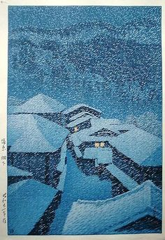 Kawase Hasui (1883-1957)  Hatakudari in Shiobara (Shiobara, Hatakudari) signed Hasui with artist's seal Sui, publisher's seal Watanabe, dated on lower left margin Showa nijuichinen saku (made in Showa 21 [1946])