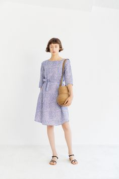 Samuji Finch Dress on Garmentory Iconic Dresses, Fabric Material, Linen Fabric, Printed Cotton, Dresses For Sale, Cold Shoulder Dress, Women Wear, Spring Summer, Style Inspiration