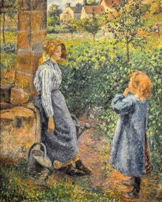 Camille Pissarro - Woman and Child at the Well, 1882 at Art Institute of Chicago IL