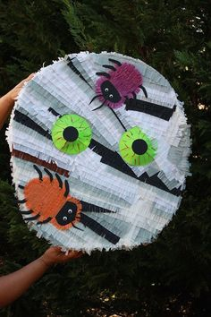 Pick up this mummy piñata for Halloween party fun.
