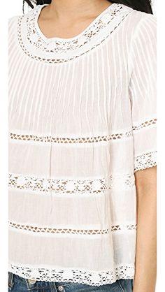 8a4f92e51d616f Lace Blouse. White Flowy TopCute White DressFlowy ...