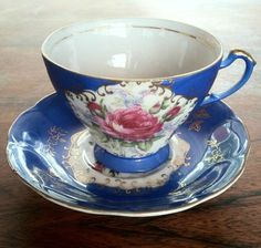 Bond Ware Floral Tea Cup and Saucer