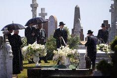 The Great Gatsby set at Waverley Cemetery Picture. This scene from Gatsby's funeral never made the final cut of the 2013 movie.