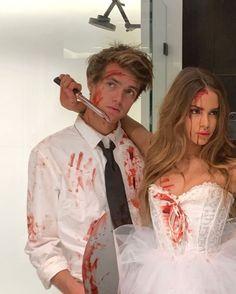 Cute Couple Halloween Costumes, Trendy Halloween, Halloween Inspo, Halloween Outfits, Couple Costumes, Halloween 2020, Spooky Halloween, Girl Costumes, Costume Ideas