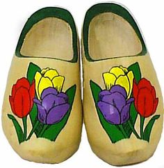 Wooden Shoes Tulip Decoration - Wearable Wooden Shoes and Slippers