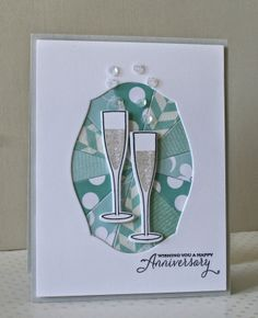 A warm and cozy Anniversary card! By Marybeth's time for paper