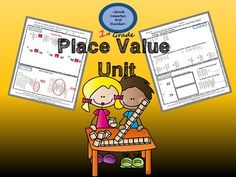 1st Grade Place Value Test, Answer Key, Multiple Level Skill Builder, and CC Unit Plan includes:*Unit plan that is aligned to common core standards, includes I Can statements, has assessing/instruction ideas, and has technology links to pull from. *Includes a 10 day lesson plan with material requirements, timed sections, pre- assessing, small mini lessons and grouping by skill levels, exit ticket and informal skill checks, and a final unit assessment to compare growth*Tiered-3 level workshop game that supports learning on ...