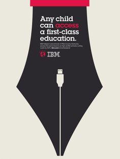 IBM illustration poster