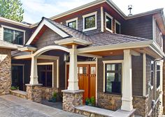 Entry designed by MacPherson Construction and Design of Sammamish, WA.