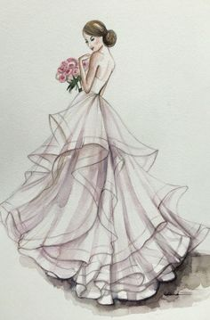 custom portrait/wedding drawing - -Bridal custom portrait/wedding drawing - - Custom Bridal Illustration Ink and Coloured Pencil Alex Tang Illustrations More . New art print of beaut.